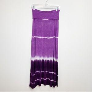 Lucky Brand purple tie dye coverup skirt